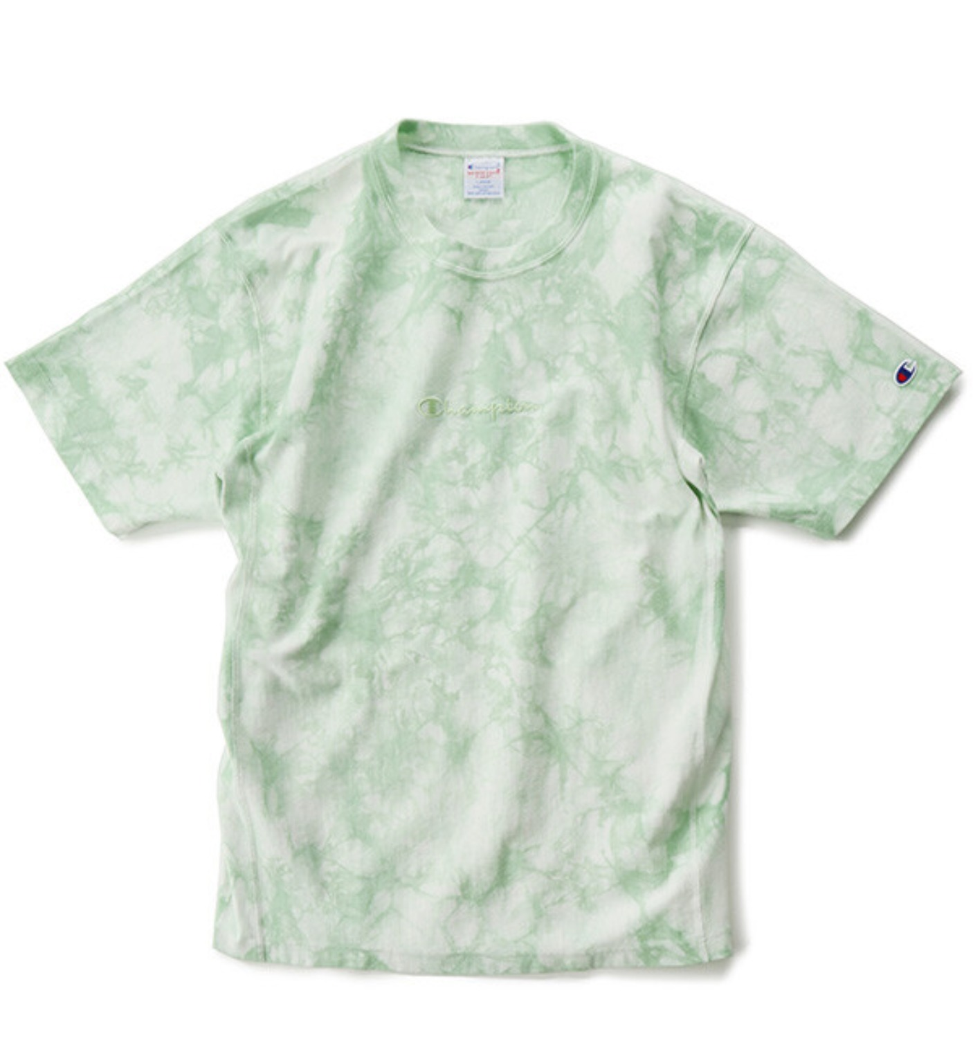 REVERSE WEAVE 9.4OZ TIE DYE T SHIRT GREEN