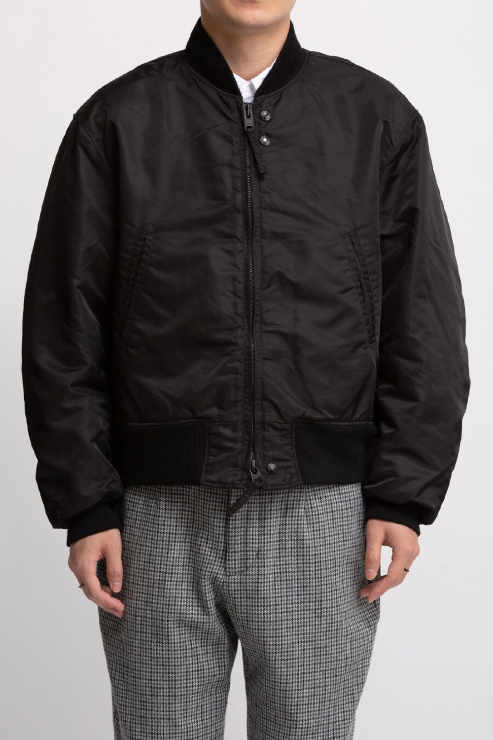 SVR JACKET BLACK FLIGHT SATIN NYLON