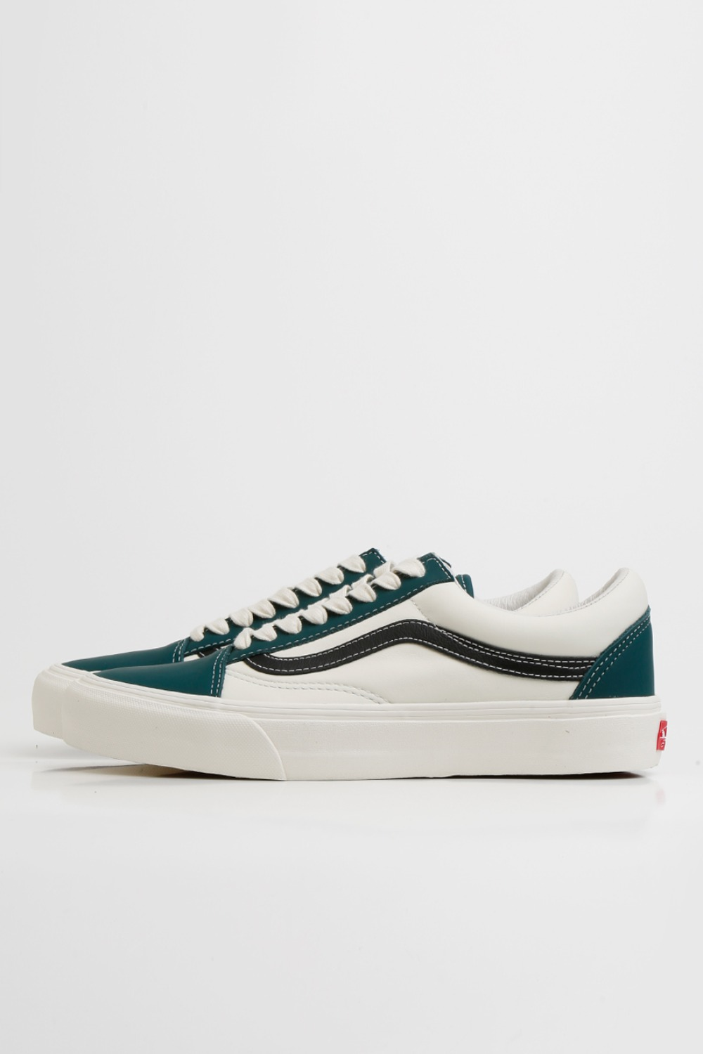 OLD SKOOL VLT LX(LEATHER) EVERGREEN/MARSHMALLOW