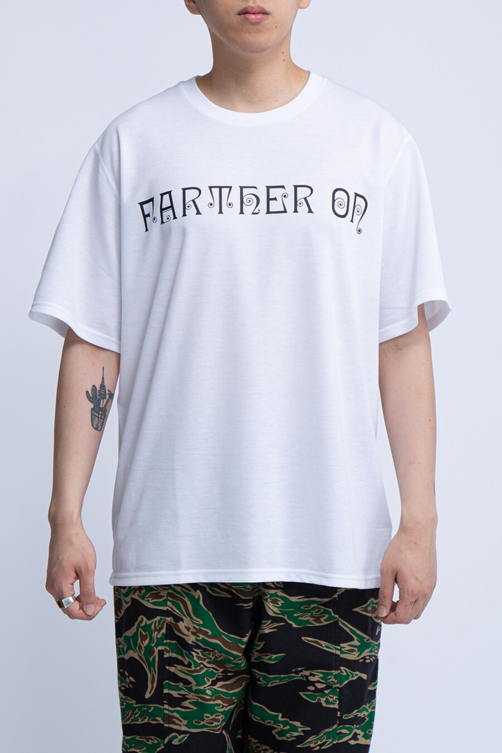 CREW NECK TEE FARTHER ON WHITE