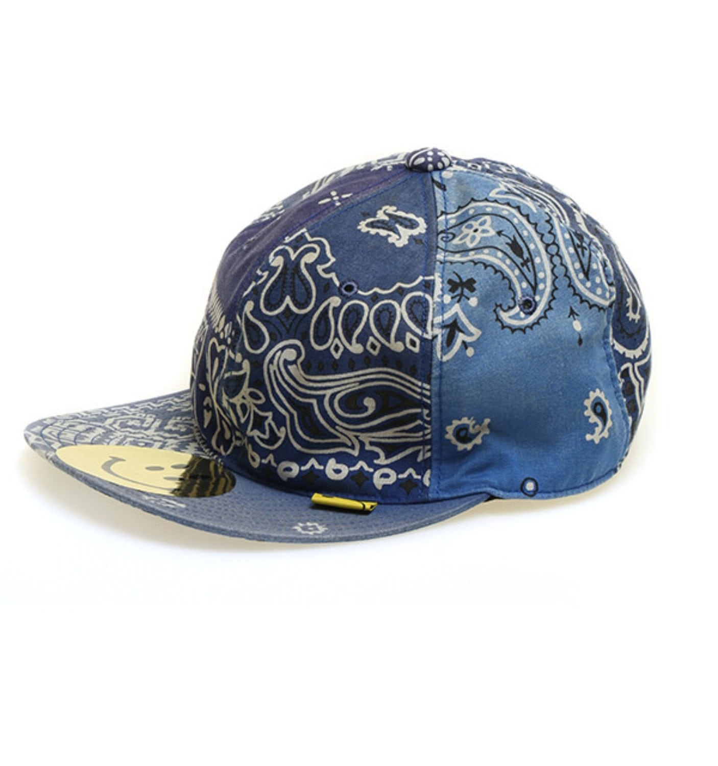 Cotton Bandana Patchwork Baseball Cap BLUE