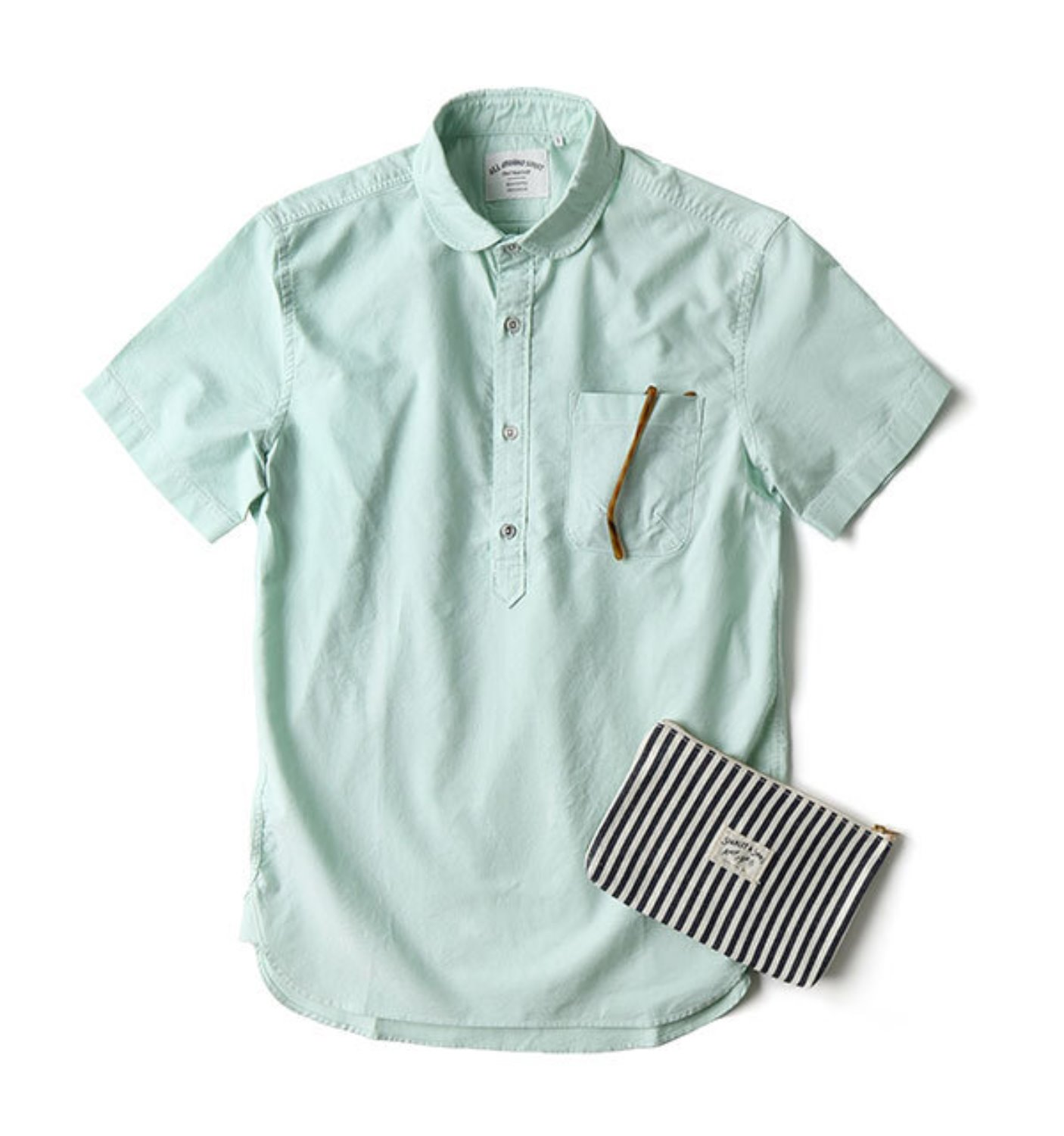 BAS02 MINT SOLID OXFORD SHIRT