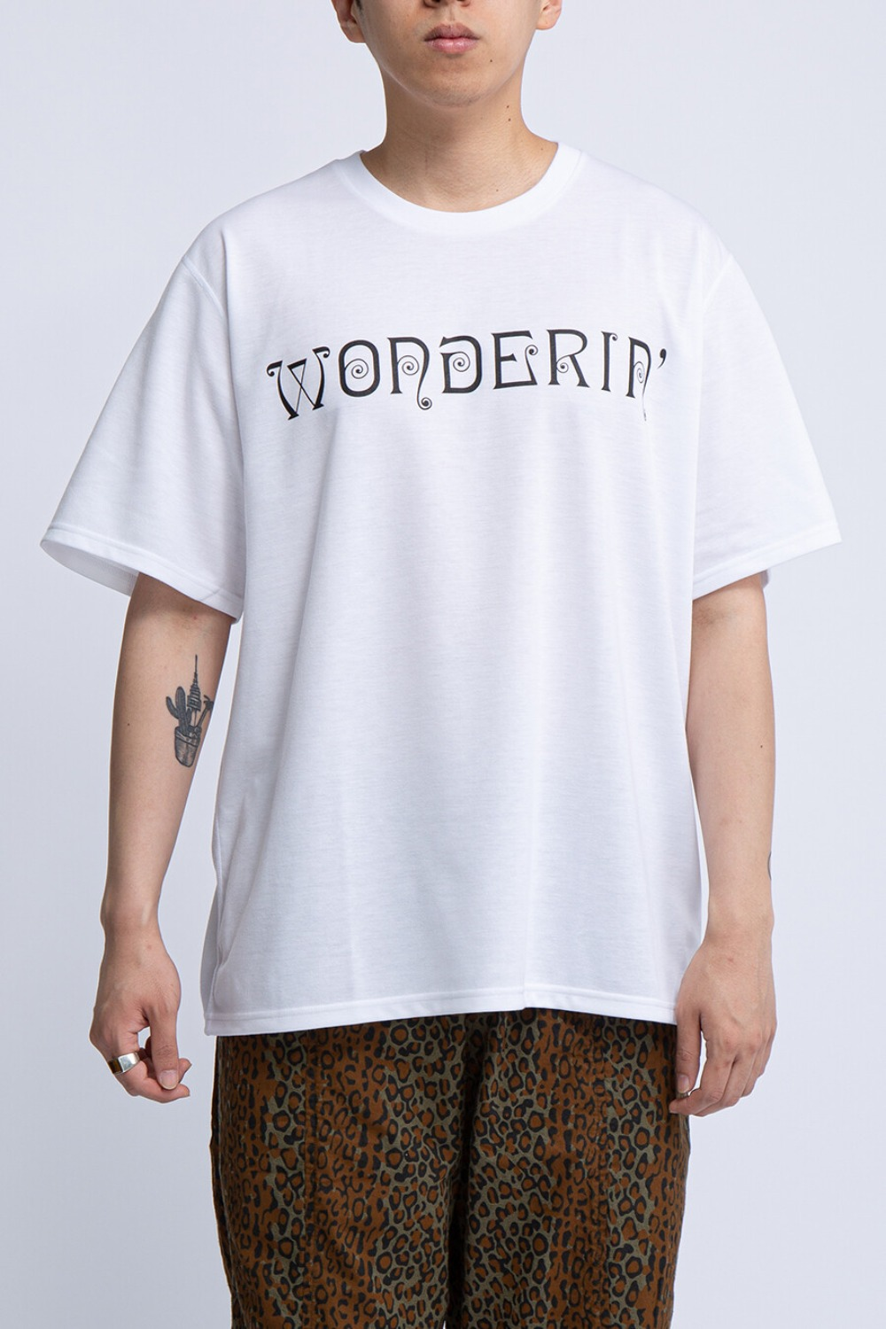 CREW NECK TEE WONDERIN WHITE