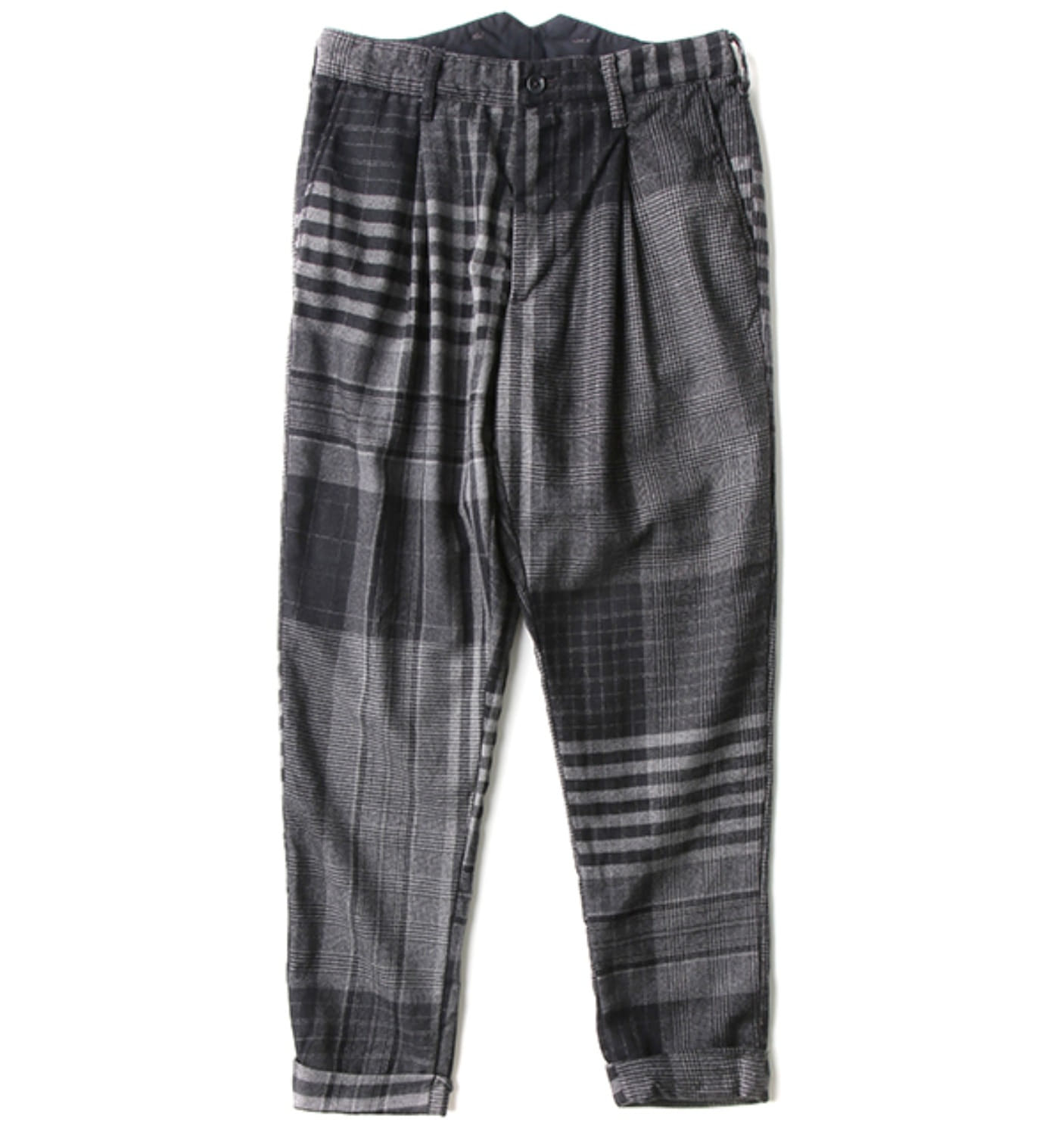 WILLY POST PANT GREY/BLACK WORSTED(WF7F0151)