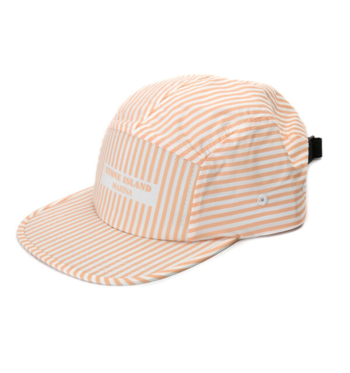 MARINE STRIPE CAMP CAP SALMON