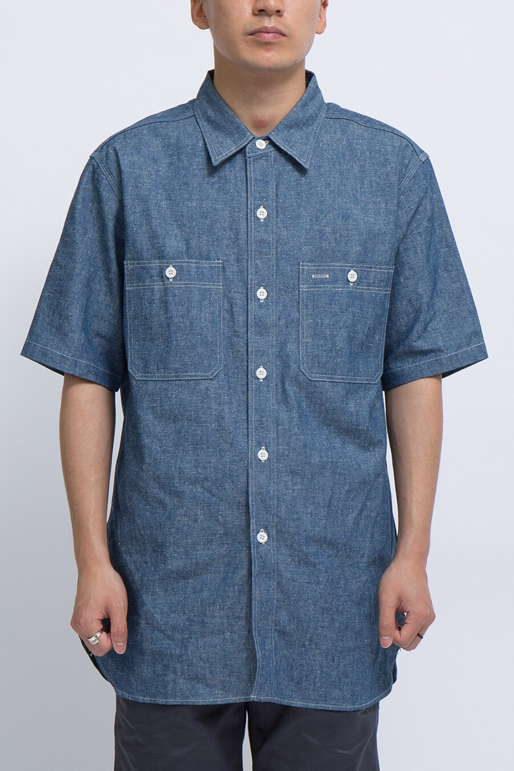 LOT 3080 S/S WORK SHIRTS CHAMBRAY NON WASH