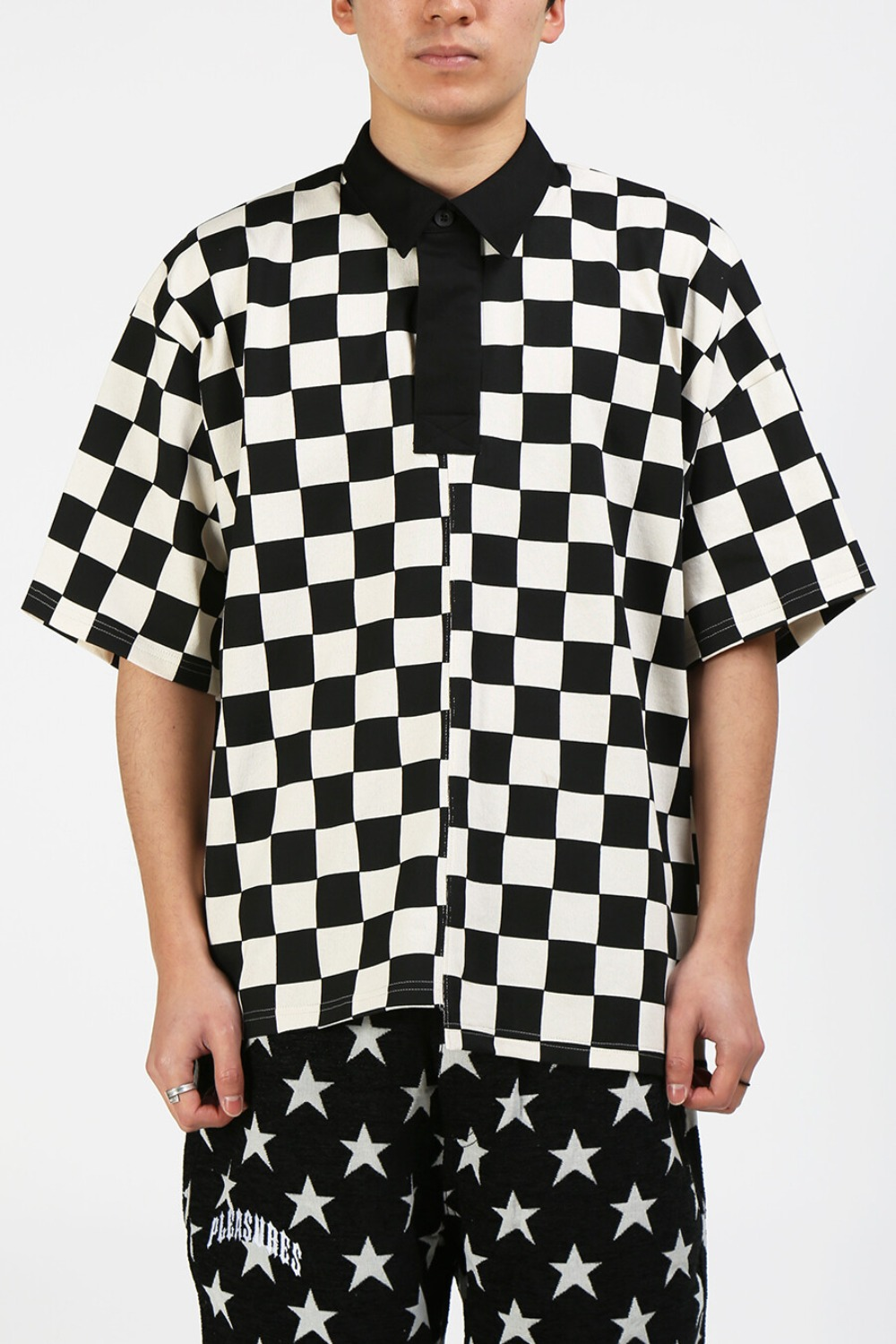CHECKERED RUGBY SHIRT NATURAL