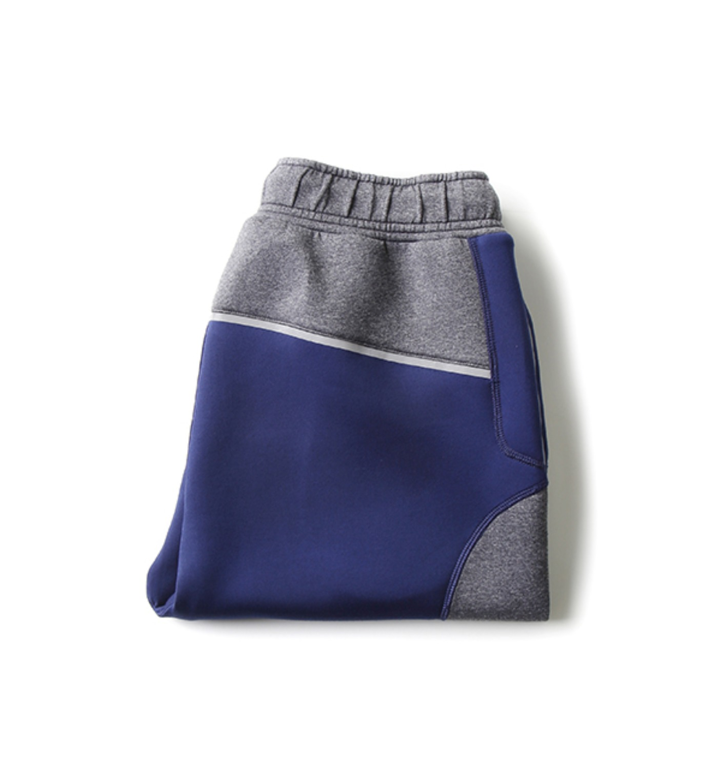 D2007 Napier Tech Knit Short Colorblock GREY/BLUE