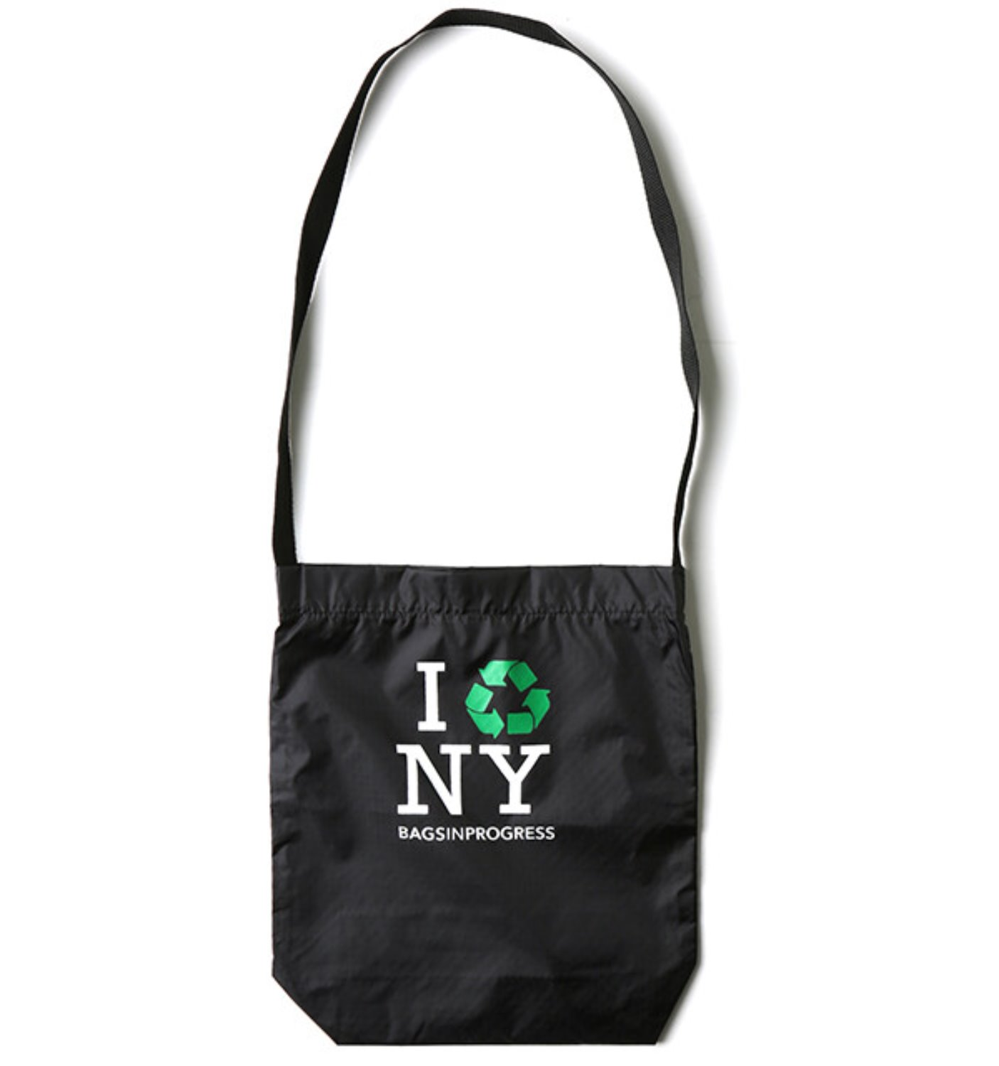 RIPSTOP NYLON SHOULDER SLING-I RECYCLE NY BLACK(17105RNNY)