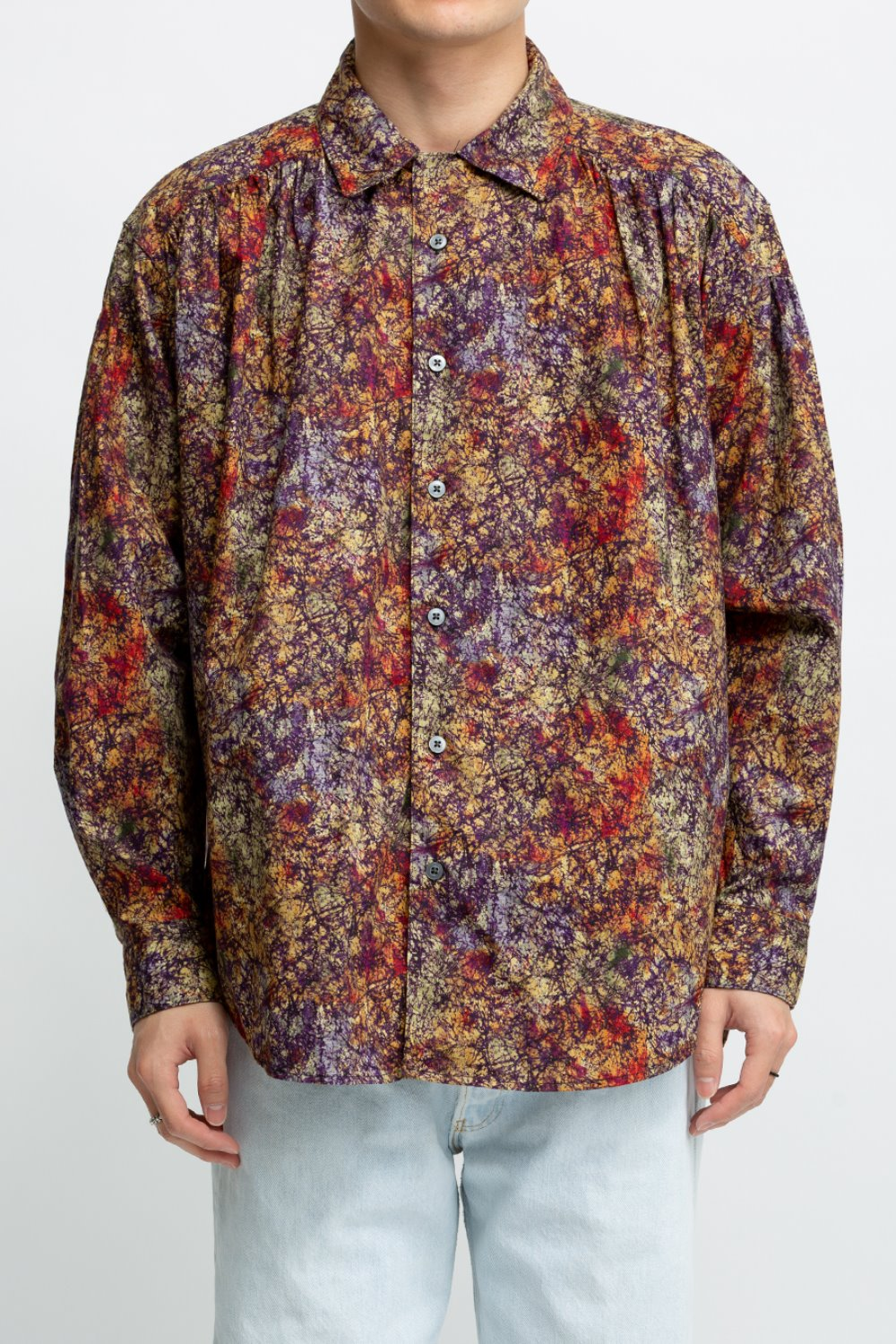 PAINTER SHIRT MULTI COLOR MARBLE BATIK PRINT
