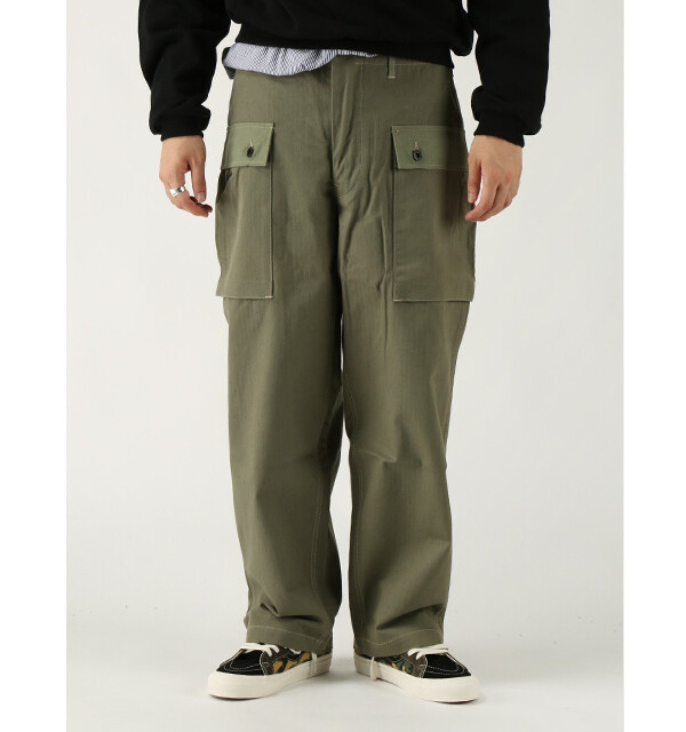 LOT1097 USMC HB MONKEY PANTS OLIVE