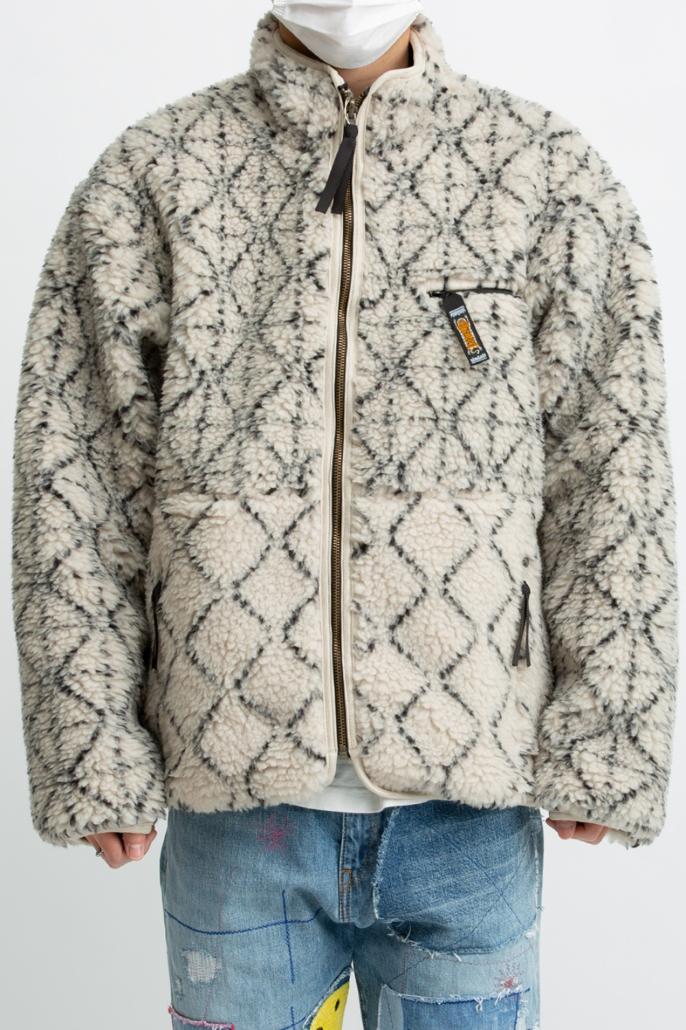 DO-GI SASHIKO BOA FLEECE REVERSIBLE BLOUSON(EK-1025)