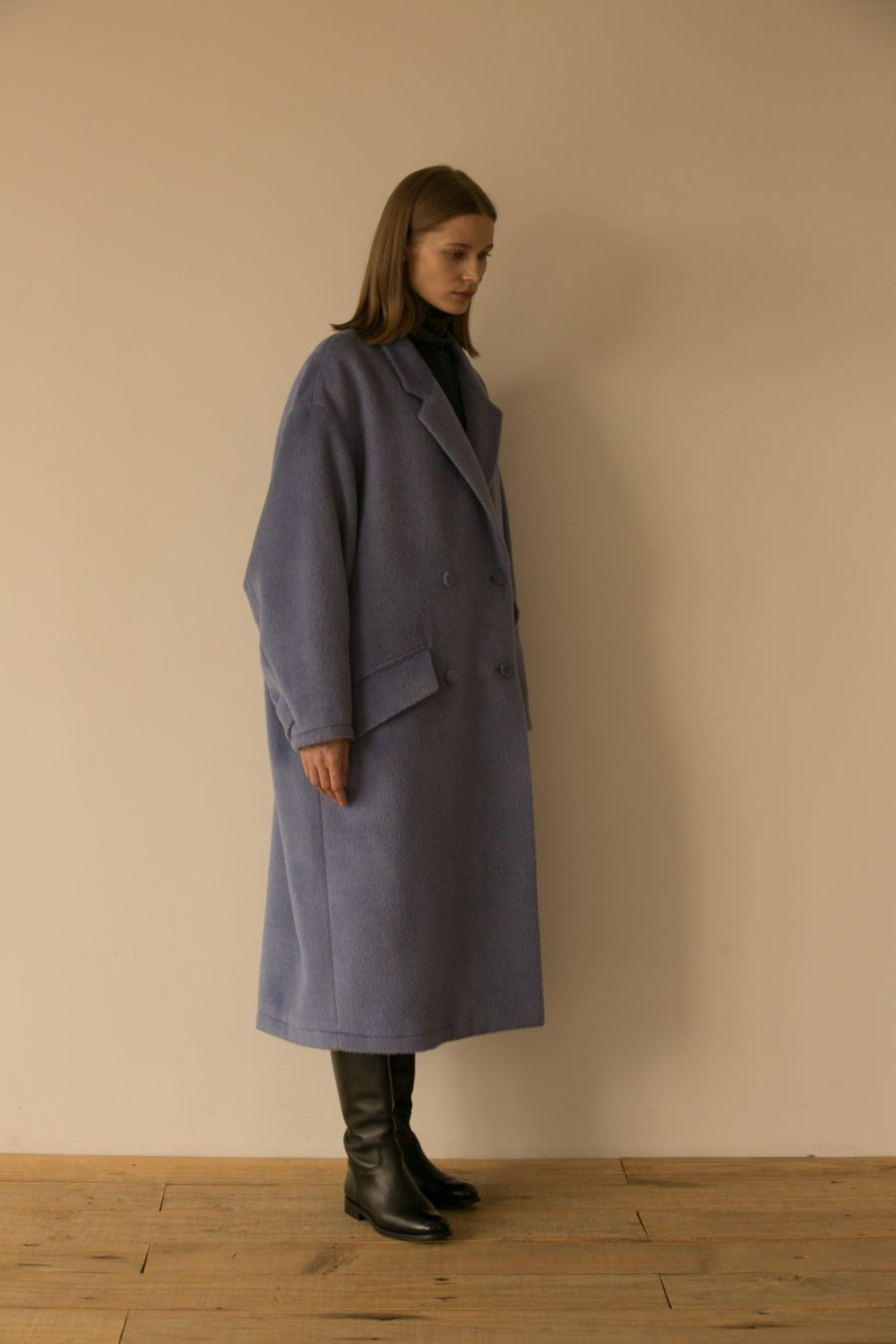 DANSE OVERSIZED COAT ALPACA BLUE