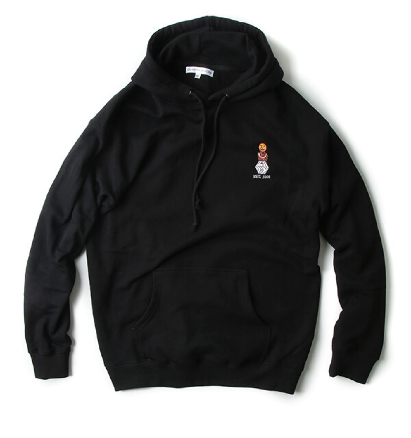 EMBROIDERED SNACKMAN HOODY BLACK