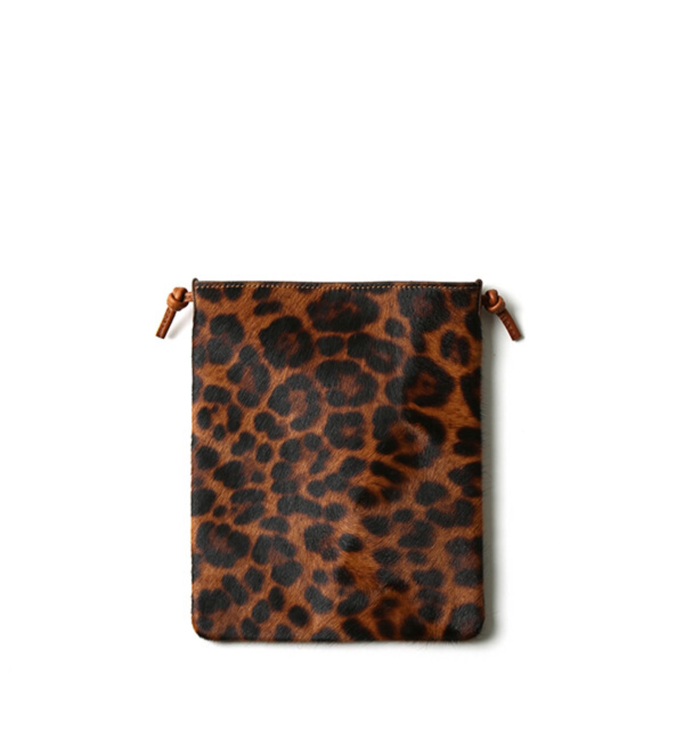 PASSPORT SHOULDER-HAIRLY COW LEATHER LEOPARD(17401HCL)