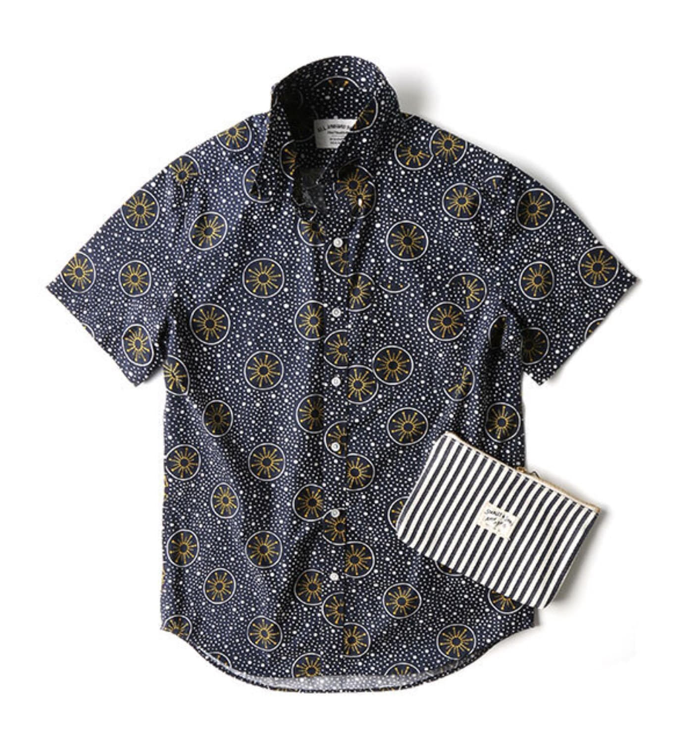 BAS01 NAVY/YELLOW COSMIC SHIRT