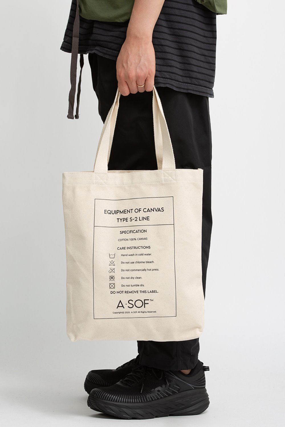 TEXT ECO BAG IVORY