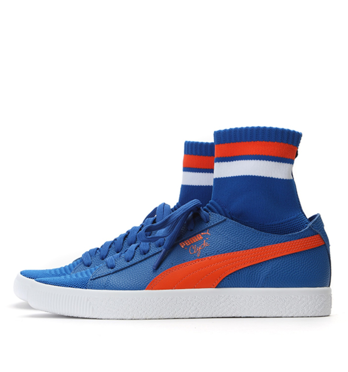 CLYDE SOCK NYC Lapis Blue-Scarlet Ibis-Puma White