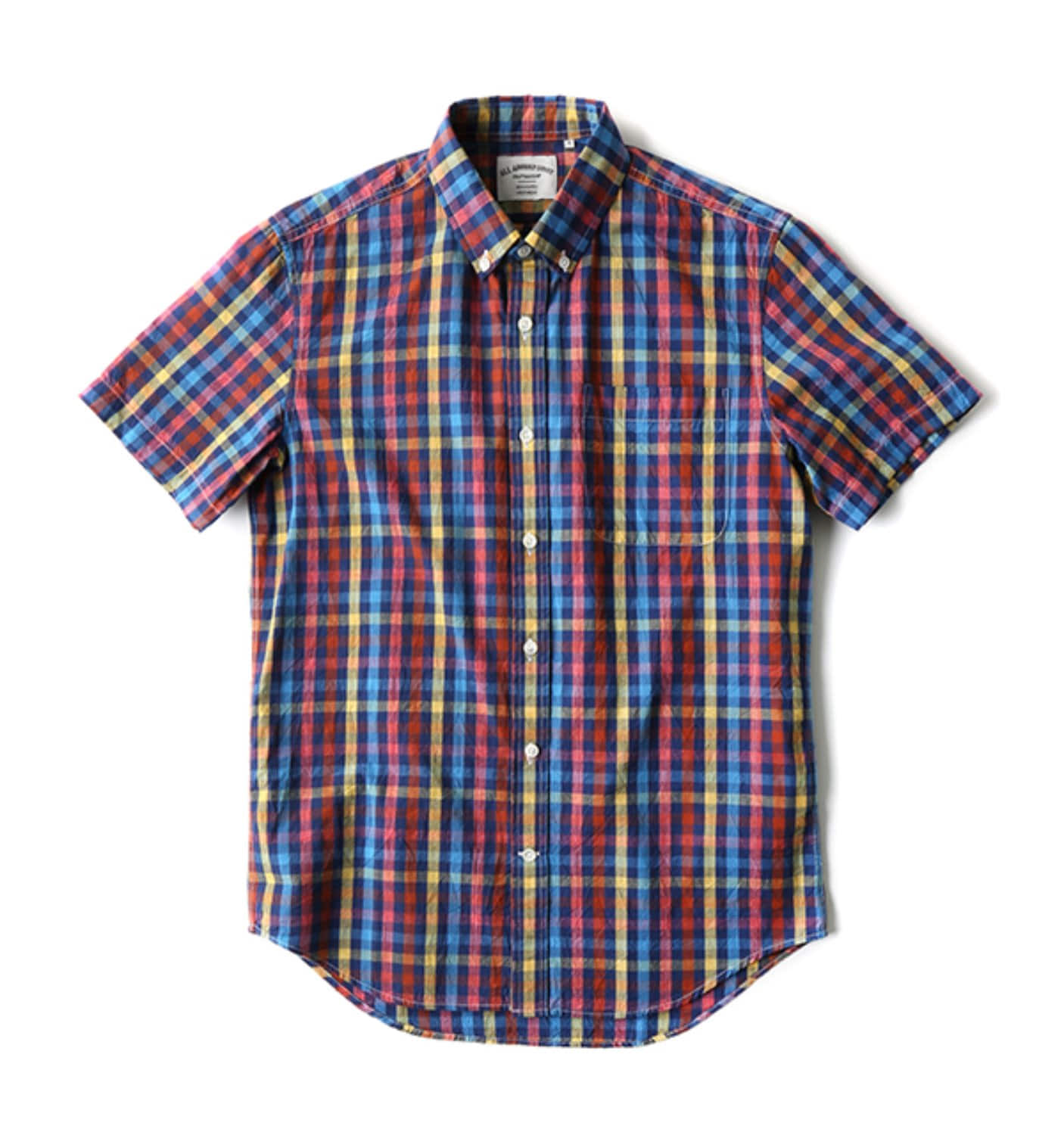 BAS01 WASHED MULTI COLOR CHECK