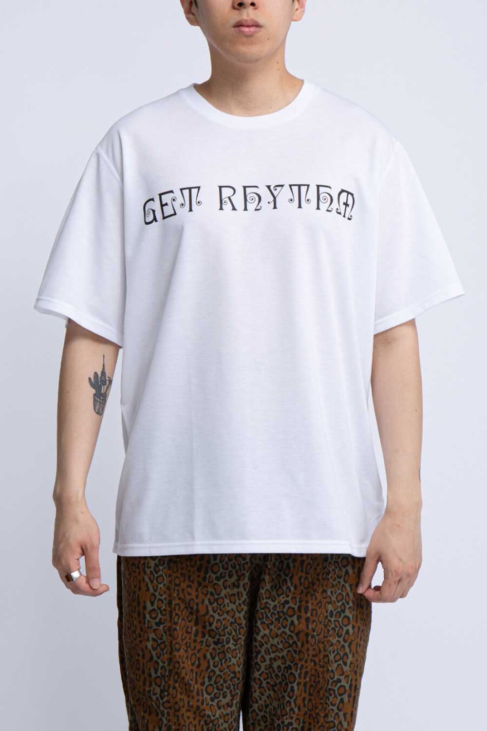 CREW NECK TEE GET RHYTHM WHITE