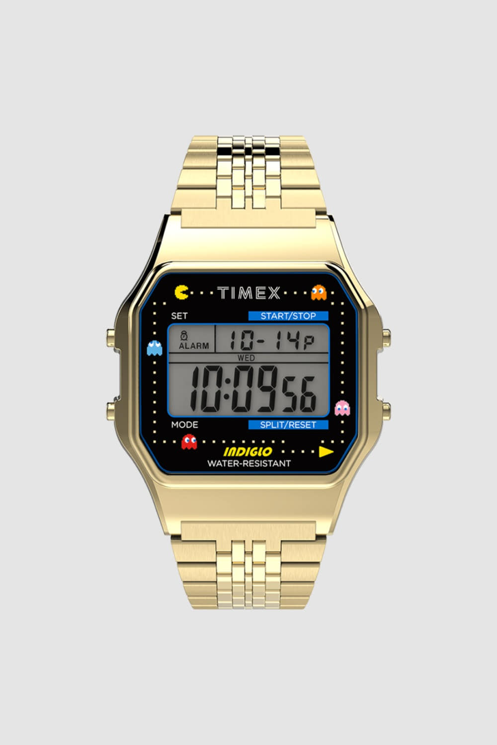 TIMEX X PAC-MAN™ T80 34mm STAINLESS STEEL BRACELET WATCH GOLD