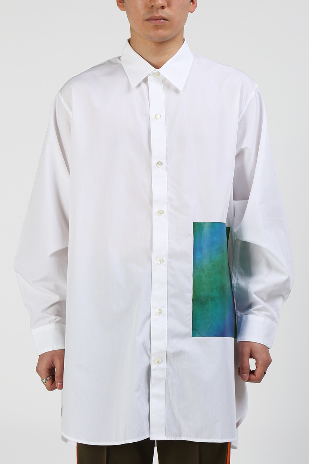 PRINTED LONG SHIRT WHITE