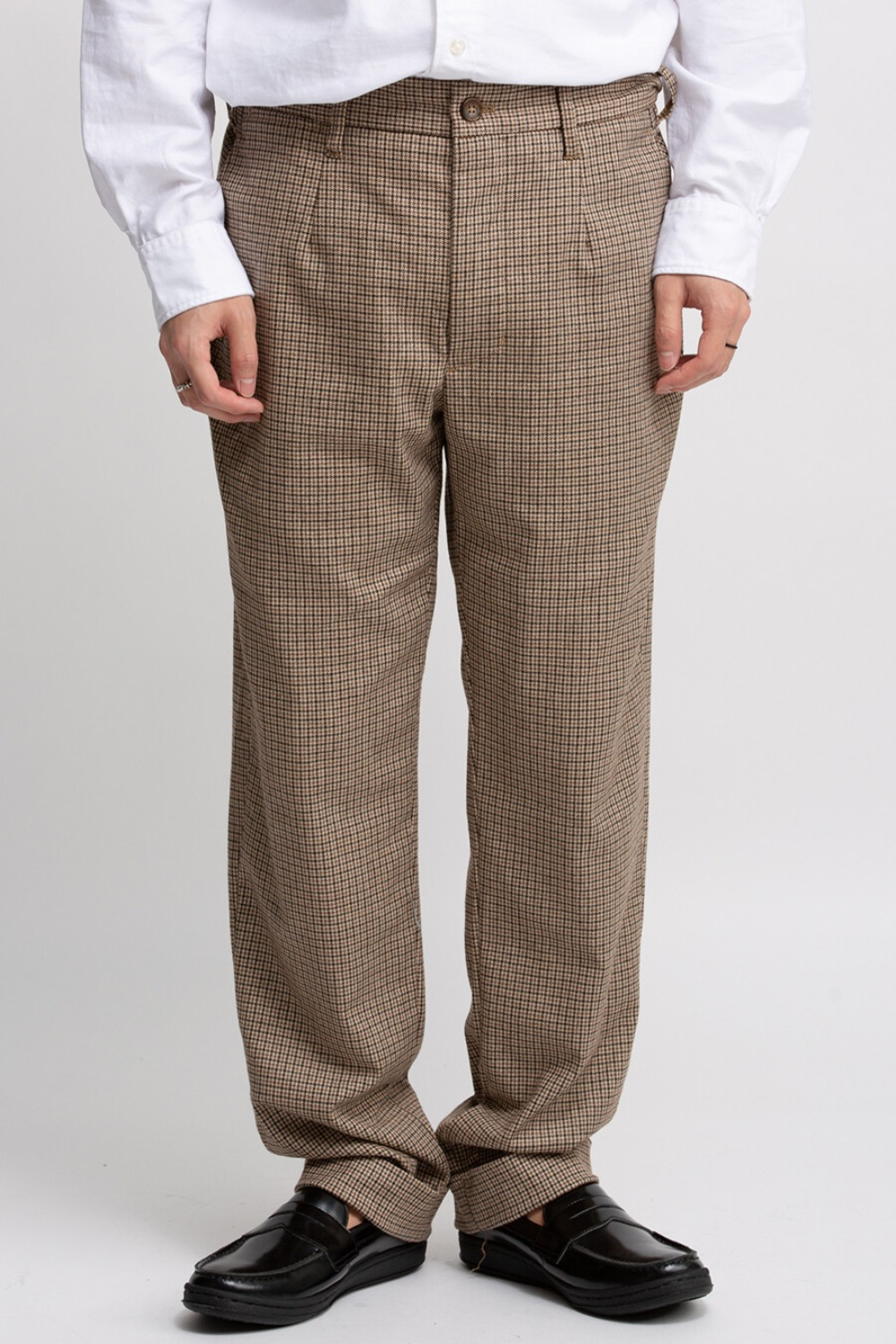 ANDOVER PANT BROWN WOOL POLY GUNCLUB