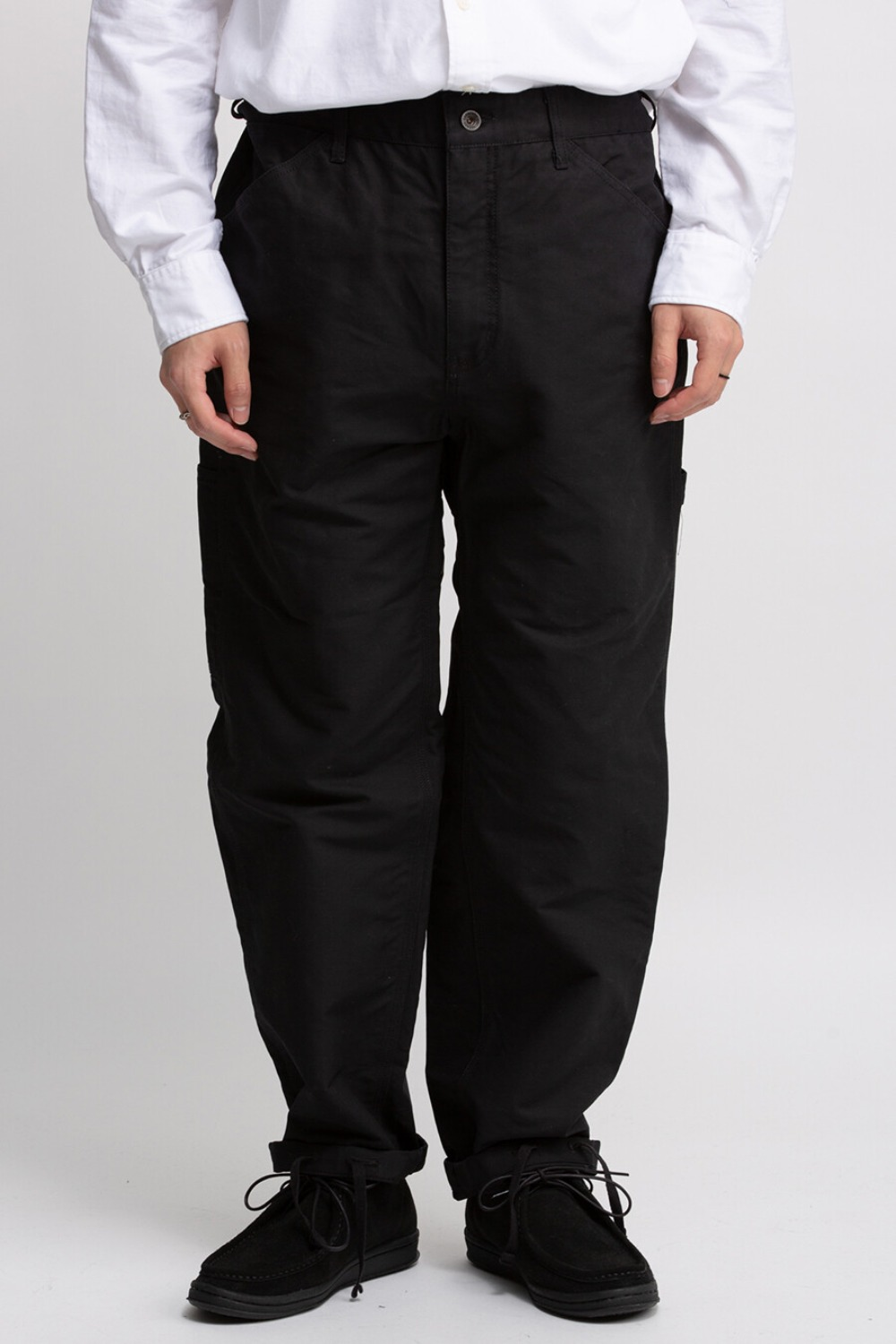 PAINTER PANT BLACK COTTON DOUBLE CLOTH