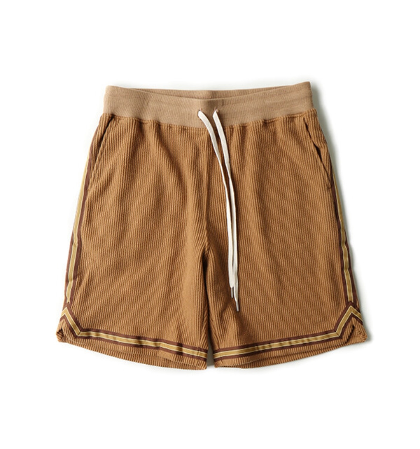 CORDUROY BASKETBALL SHORTS GOLD