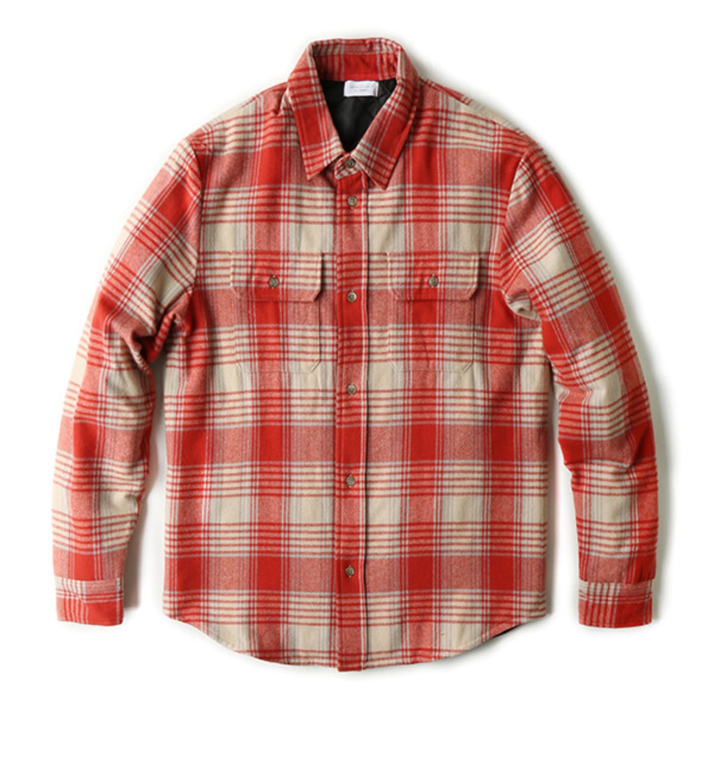 WOOL JUPITER SHIRT RED/NATURAL