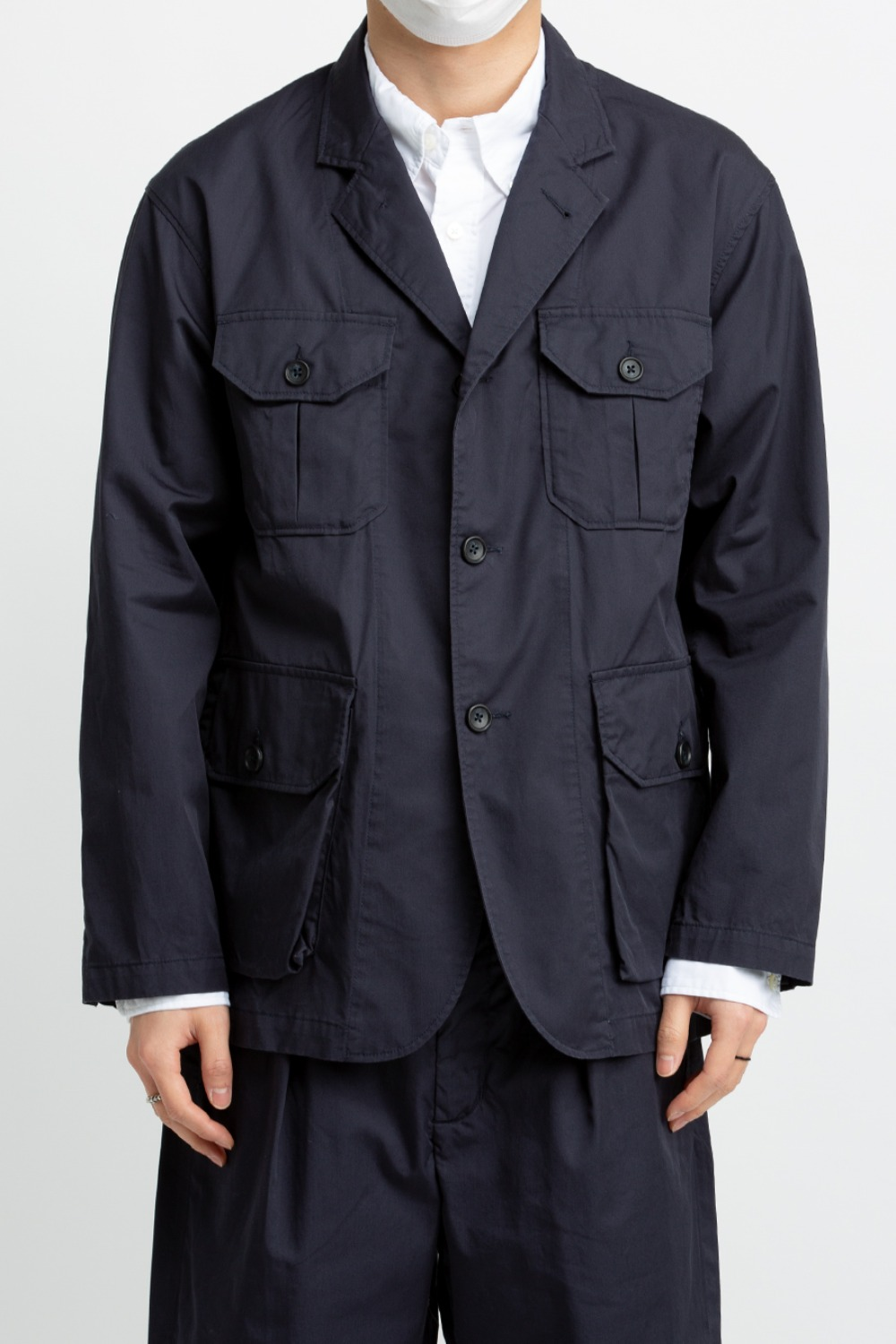 FOLK JACKET HIGH COUNT TWILL DARK NAVY