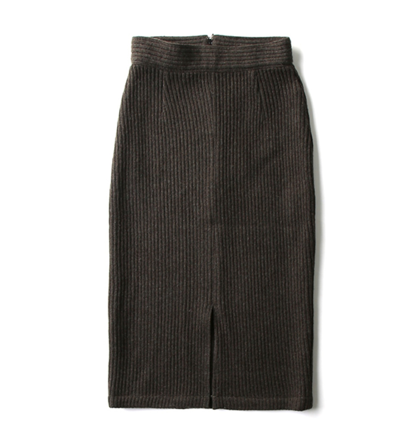 DE KNIT PENCIL SKIRT DARK OLIVE