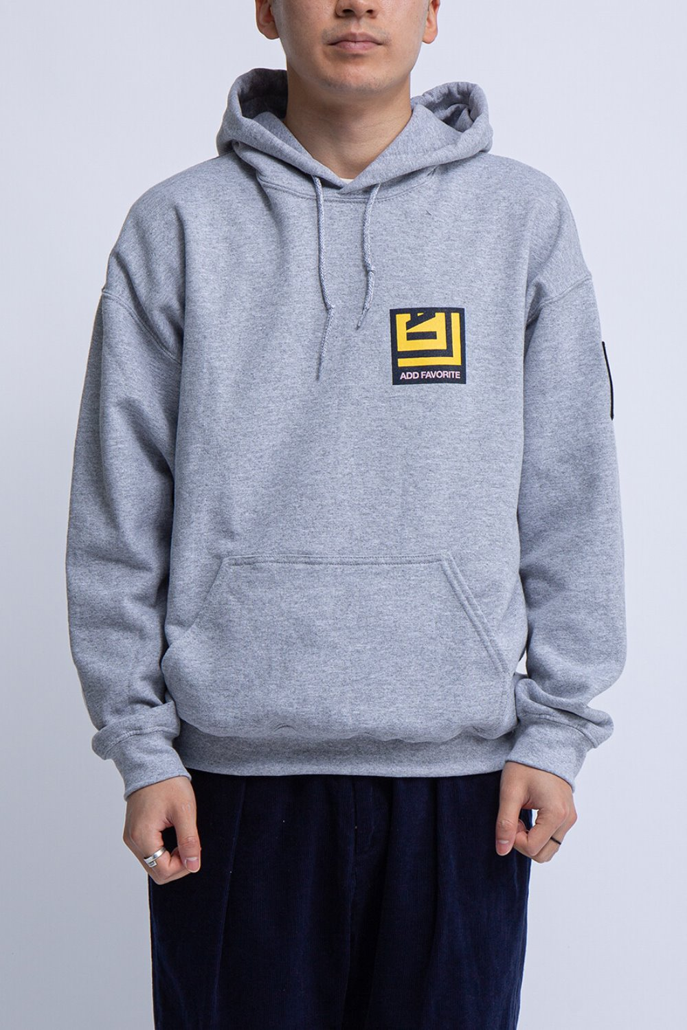 PRINTED HOODY GREY ADD FAVORITE PRINT