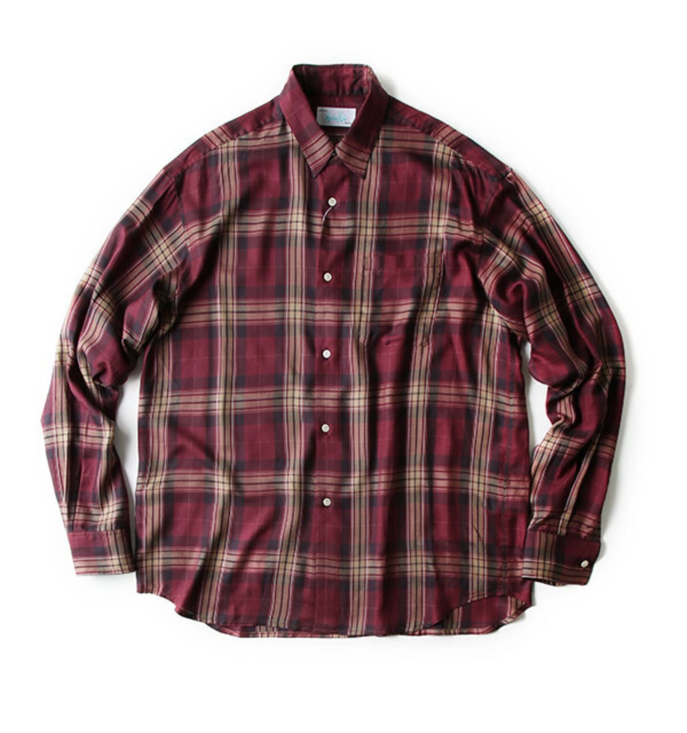 CHECK SHIRT BURGUNDY