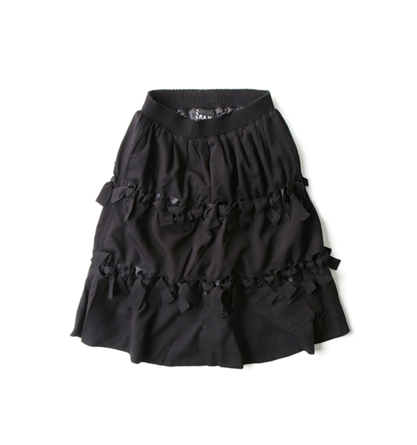 CROSSED WIRES SKIRT BLACK