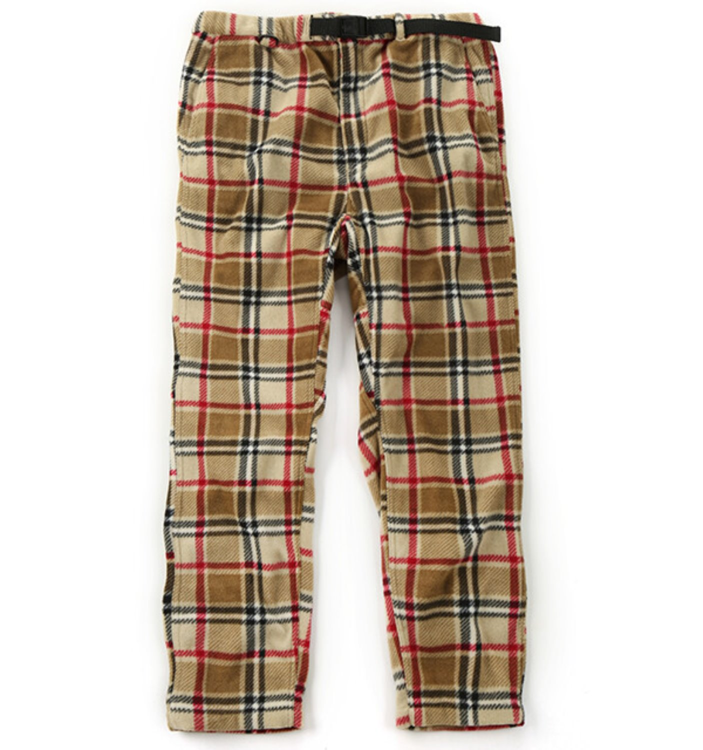 EZ PANT CAMEL POLYESTER PLAID FLEECE