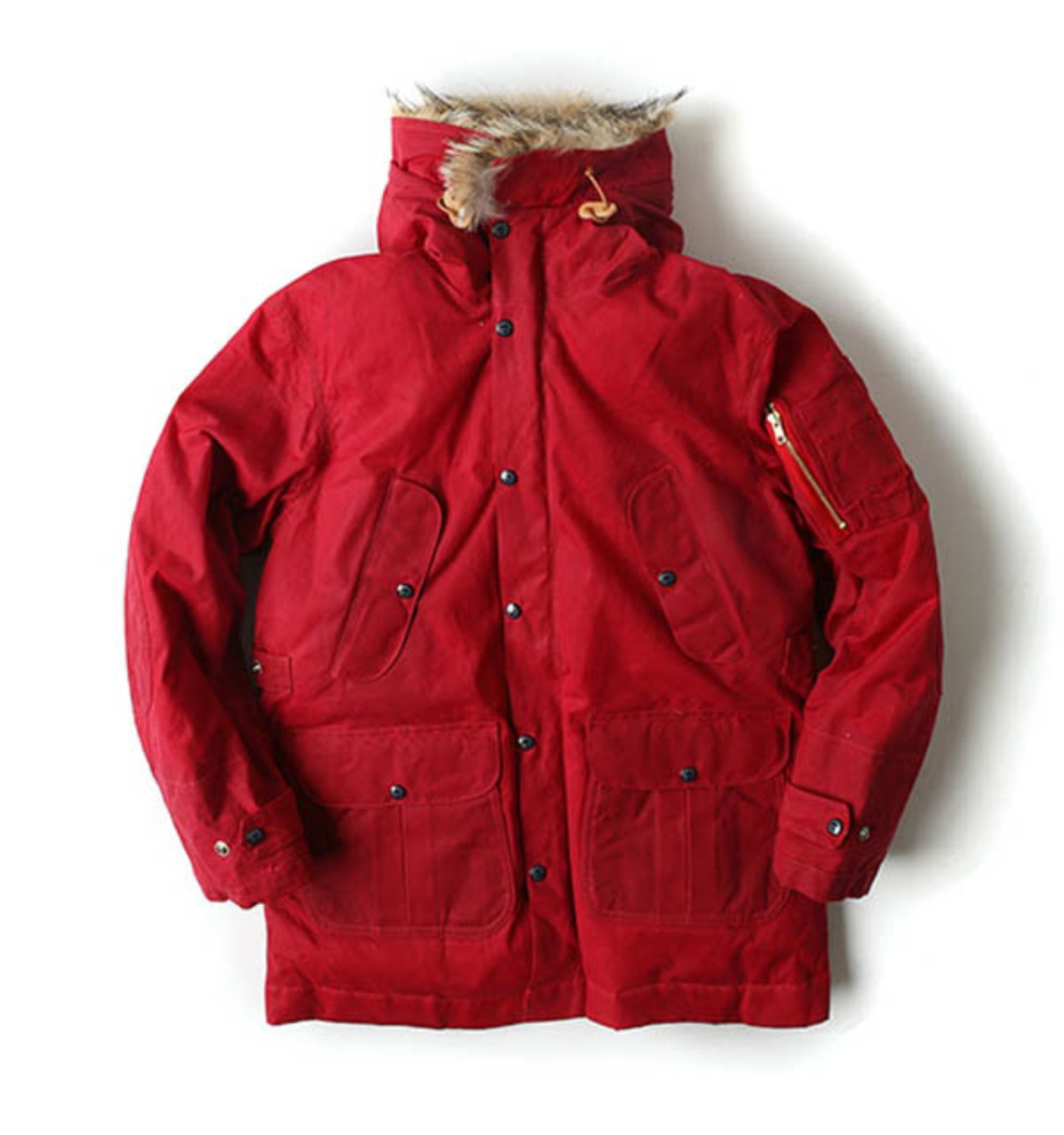 Heavy Wax Goose Down Parka Burgundy Ladies by ITALY(8002W-BX)