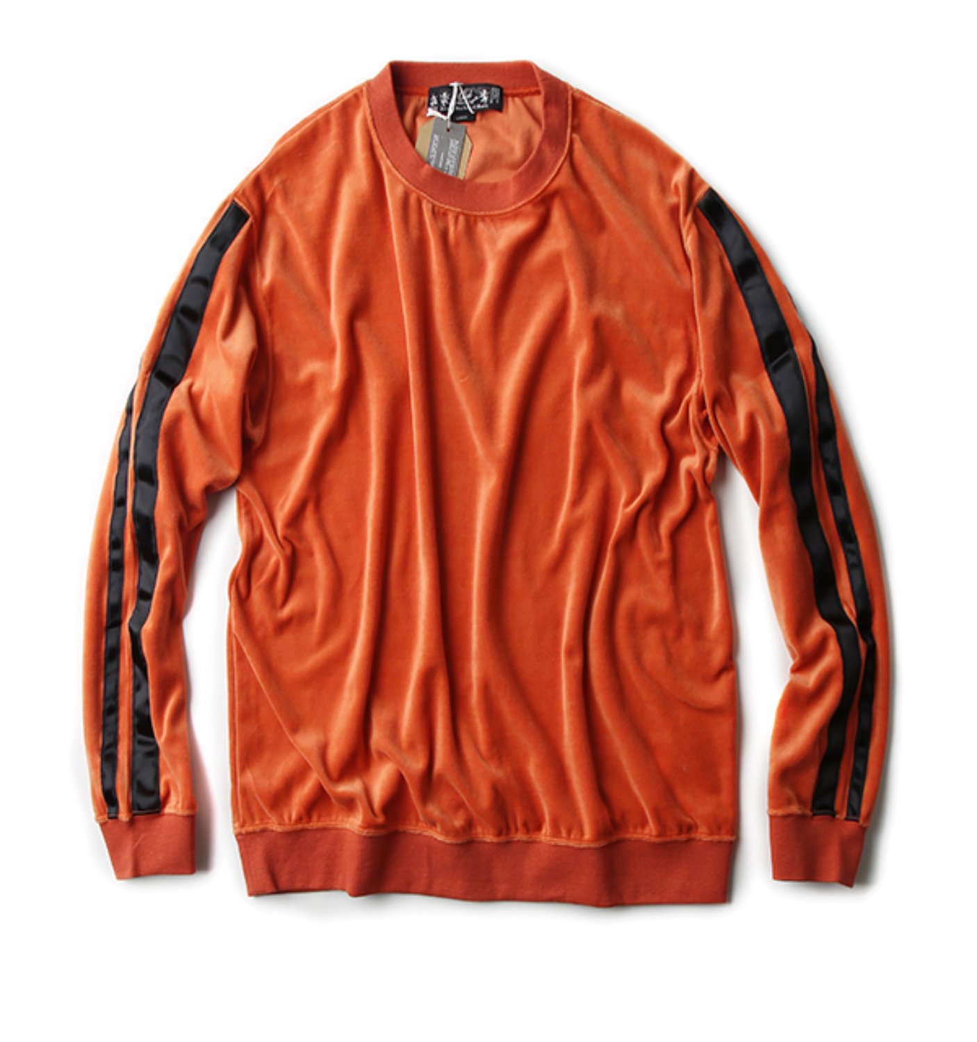 TAPED VELOUR CREWNECK ORANGE