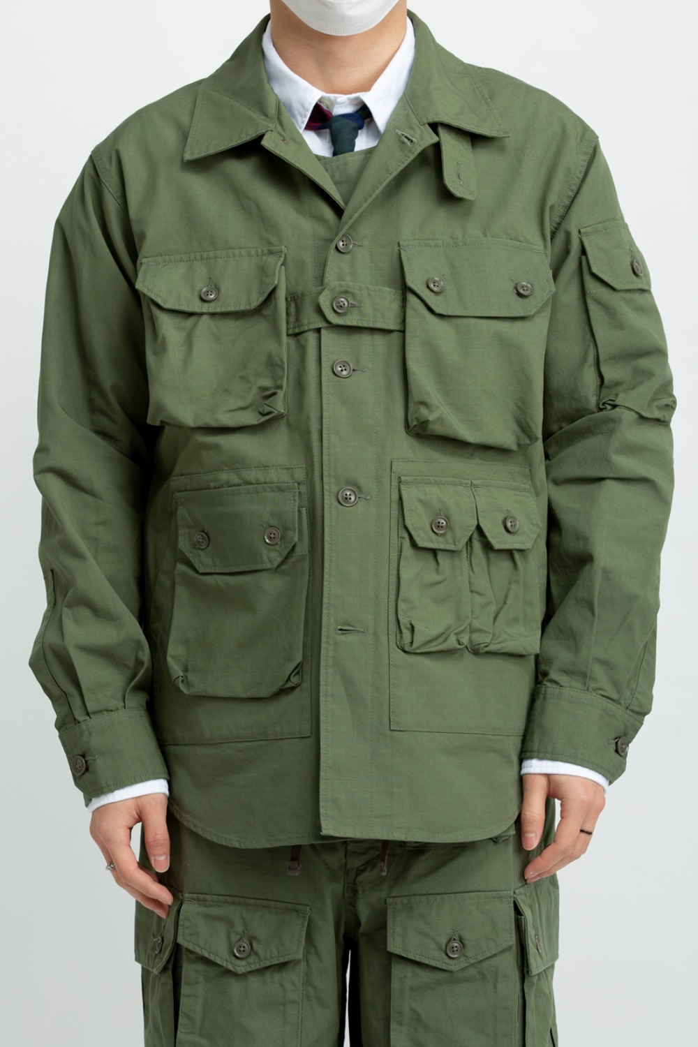 EXPLORER SHIRT JACKET OLIVE COTTON RIPSTOP OLIVE