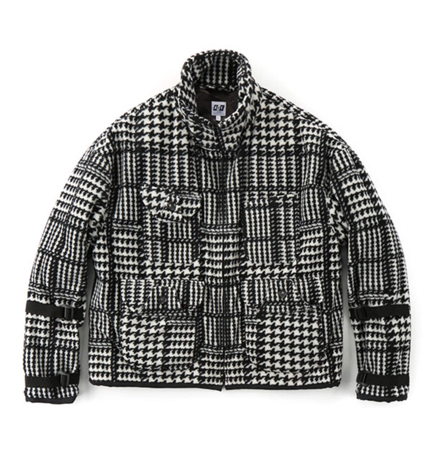 DOC JACKET BLACK/WHITE POLYESTER HOUNDSTOOTH
