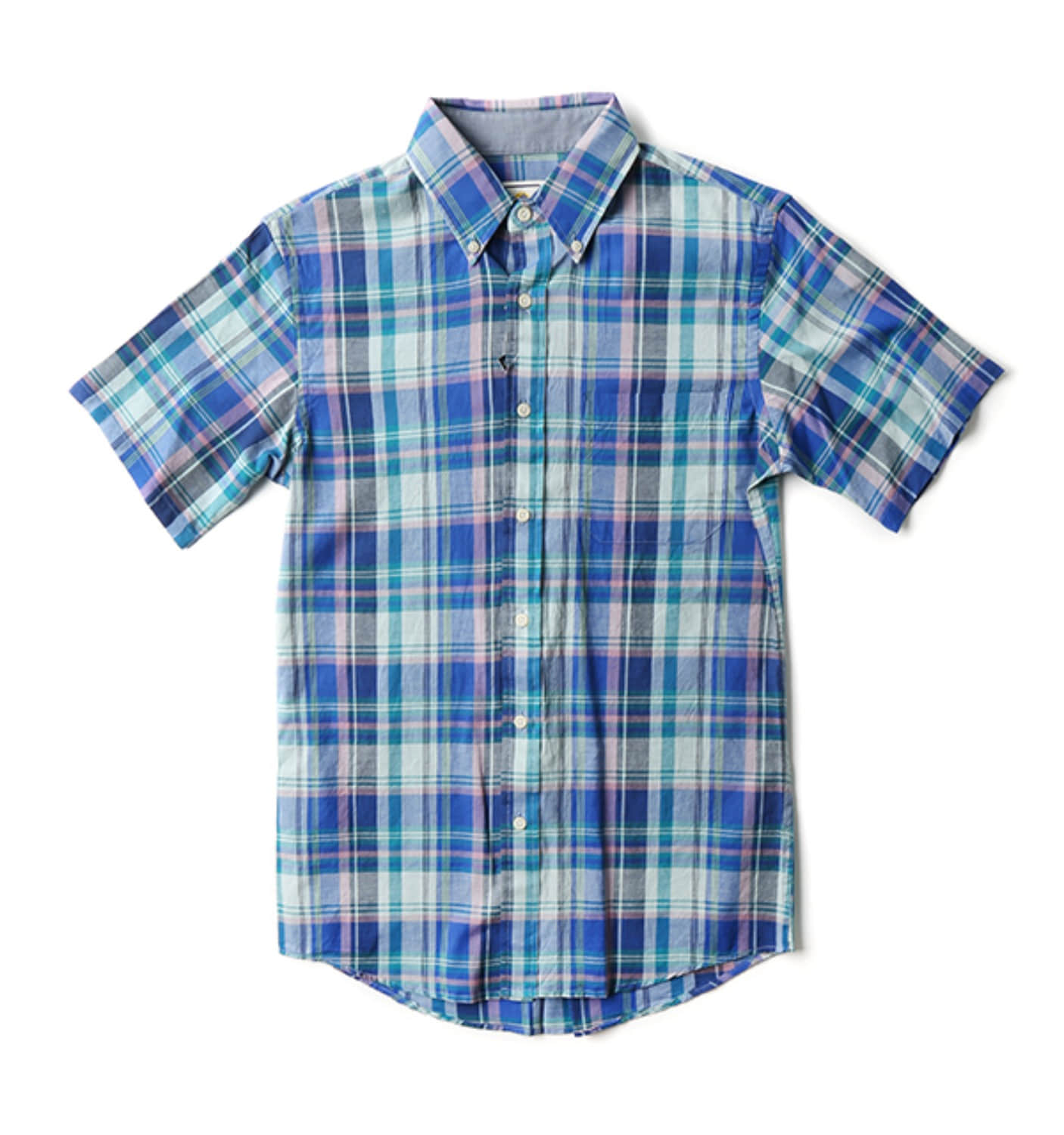 S/S Fitted Seaside BD Shirt SEA BRZ
