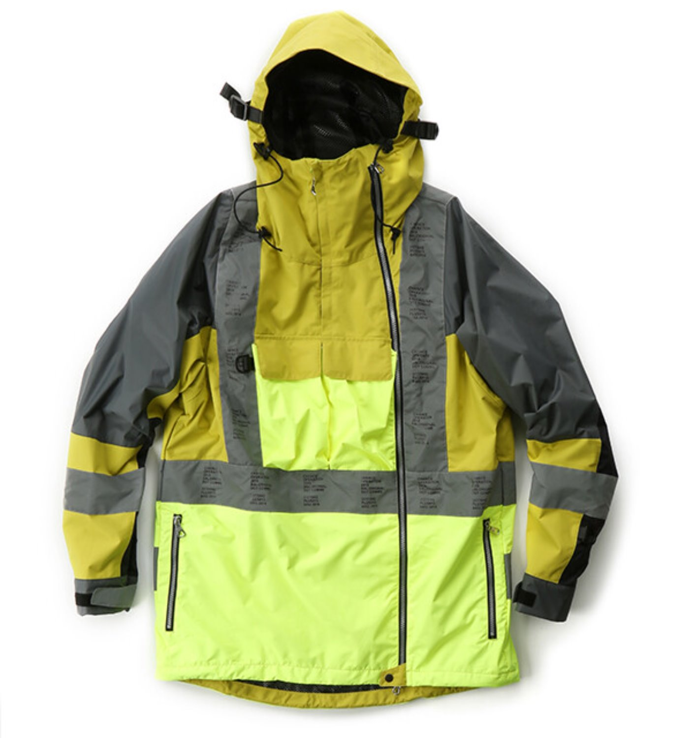 3M TAPED WATER PROOF JACKET LIME
