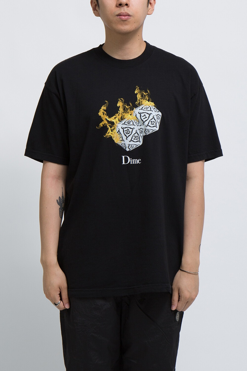 RE-ROLL T-SHIRT BLACK