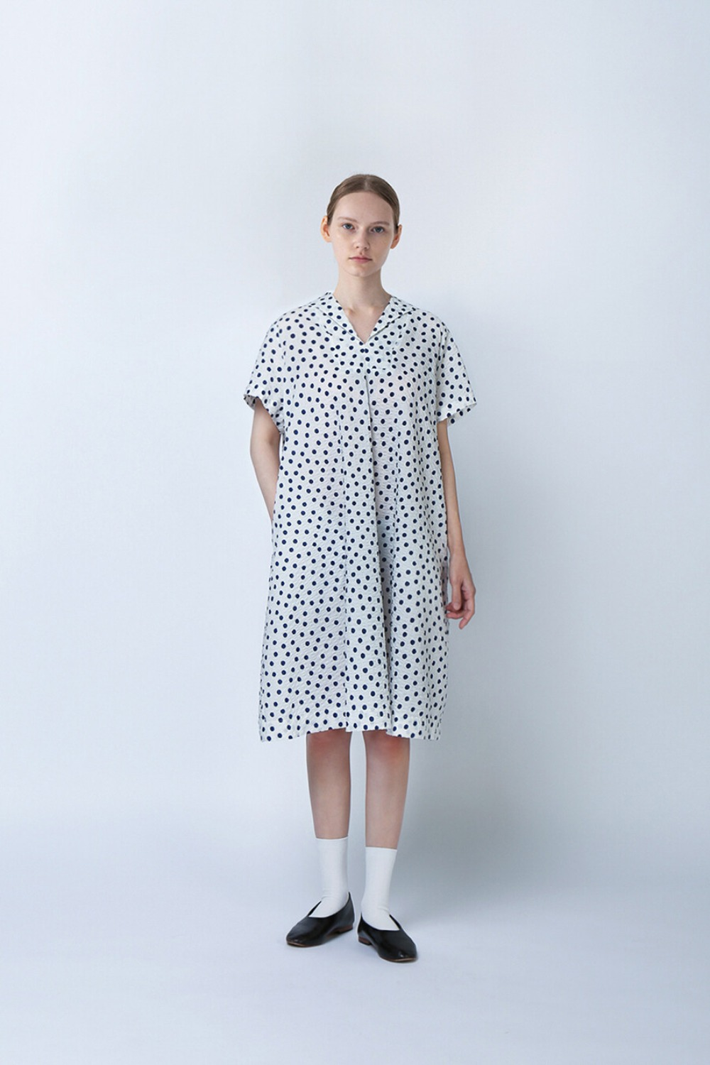 SAILOR FULL DRESS-DOT SEERSUCKER