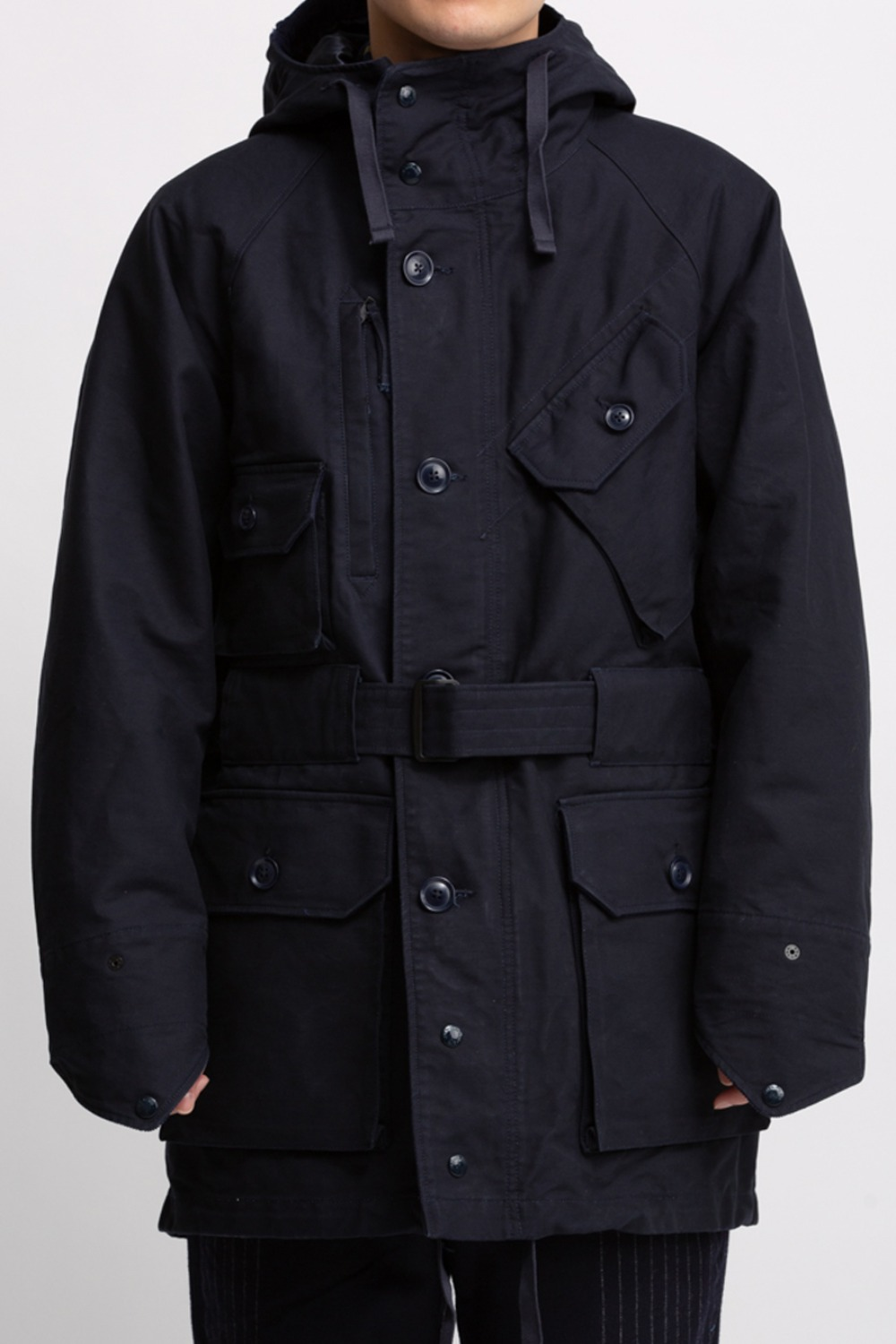 FIELD PARKA NAVY COTTON DOUBLE CLOTH