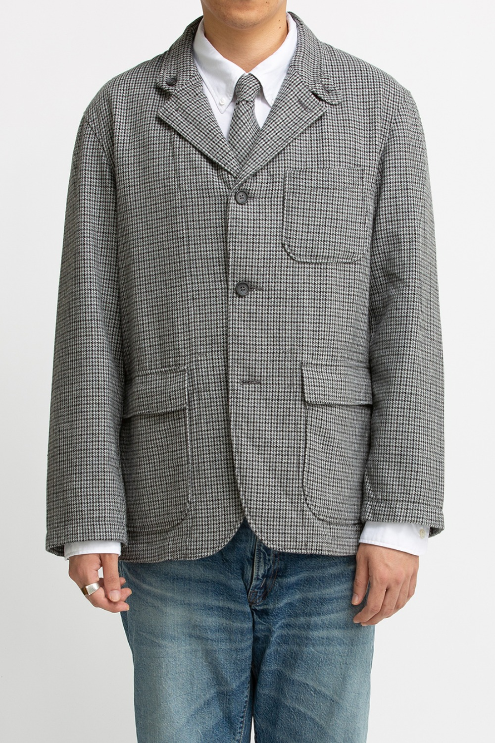 LOITER JACKET GREY WOOL POLY GUNCLUB