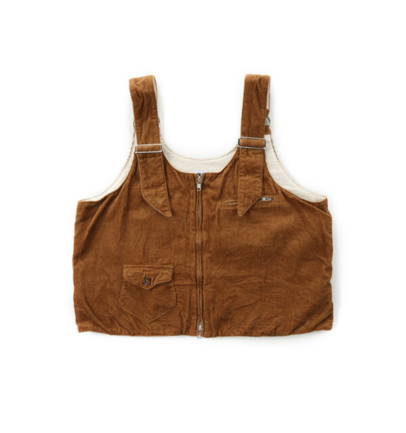 DSD VEST CHESTNUT COTTON 8W CORDUROY