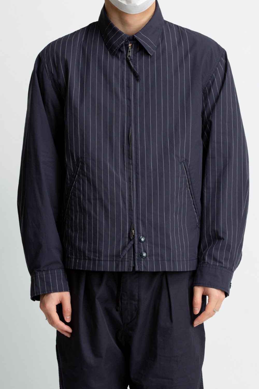 CLAIGTON JACKET DK.NAVY NYCO GANGSTER STRIPE