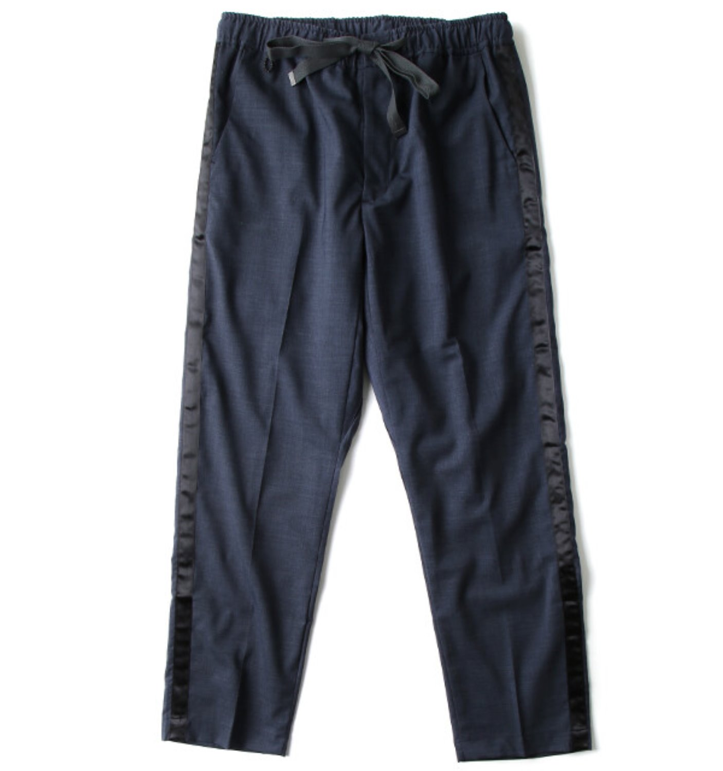 WOOL SIDE STRIPE PANT NAVY