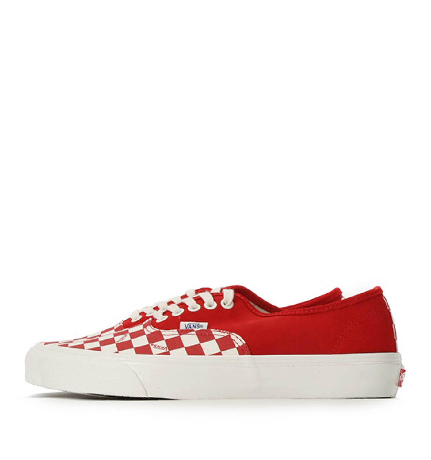 OG AUTHENTIC LX(SUEDE/CANVAS) RACING RED/CHECKERBOARD